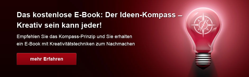 Das kostenlose E-Book Der Ideen-Kompass – Kreativ sein kann jeder!